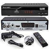 Strom 505 Receiver DVB-T2 / DVB-T - / Receiver Für Digitales H.265 - H.264 / MPEG2 - MPEG4 / 1080i - 1080p neuer Standard ( HDMI - SCART - USB 2.0 / /Automatische İnstallation