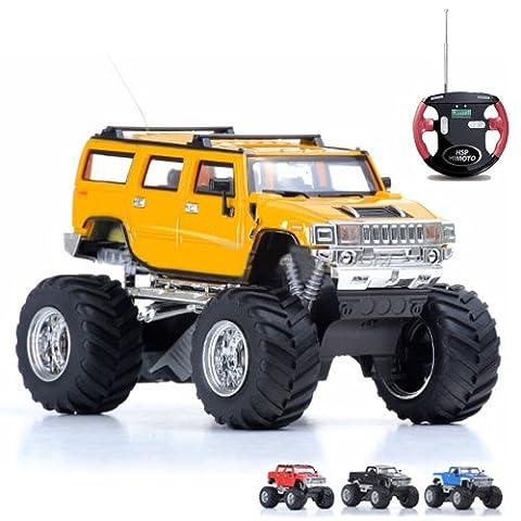 RC ferngesteuerter mini Hummer-H2 Auto-Modell Car, Jeep, Fahrzeug-Modellbau, 1:43, Ready-To-Drive, Inkl. Fernsteuerung, 15km/h, (Super-racing Seat)