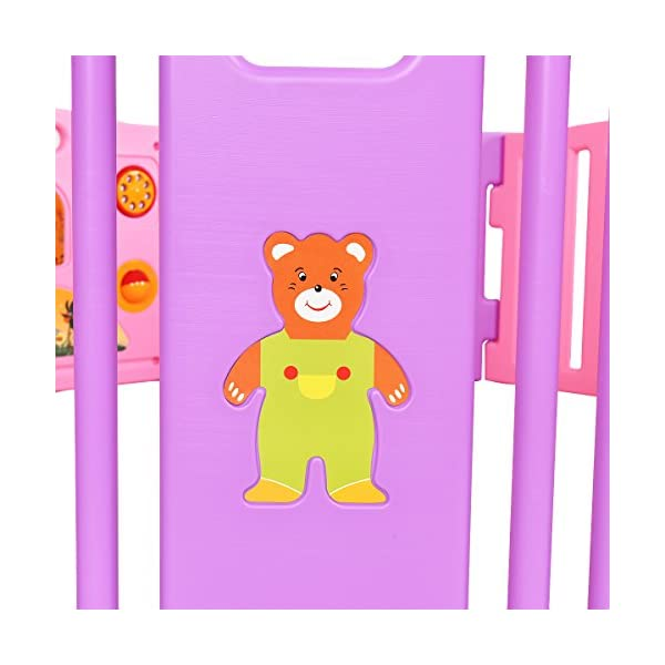 COSTWAY Baby Playpen with 8 Colorful Panels, Upgraded Safety Lock, Changeable into Octagon, Rectangle, Square, Triangle as Infant & Toddlers Activity Center (Pink) Costway 【Excluded locations】Channel Islands, Isle of Man, Scilly Isles, Scottish Islands, PO BOX 【How about the installation?】Easy to assemble within a few seconds and no tools required. You can enjoy a happy time when install the playpens with your family. 【What's the special?】The colorful design offers a dreamy activity center for your little angel. Picture House, Play Phone, Spinning Balls are available so that your little one can enjoy playing alone for a while. 8
