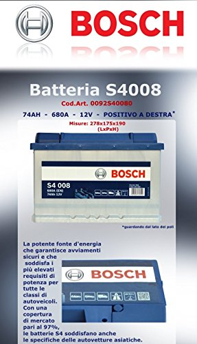 SMC Bosch Silver Autobatterie S400874Ah 680A 12V Professionell, betriebsbereit