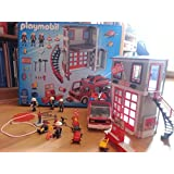 caserne de pompiers playmobil jeux et jouets. Black Bedroom Furniture Sets. Home Design Ideas