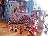Playmobil-5027 - Quartier général de la brigade de pompiers avec camion de pompier