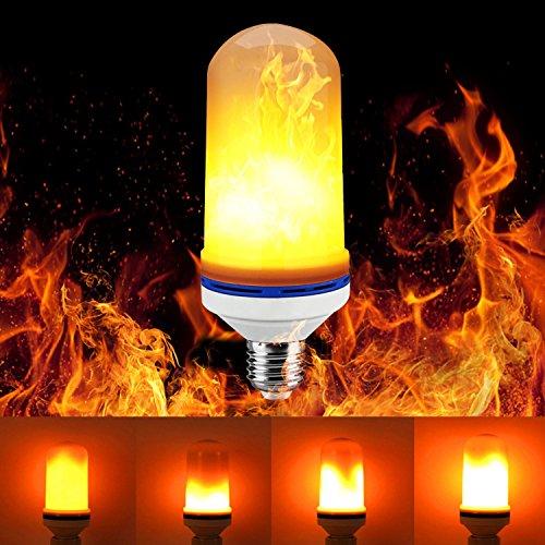 Drei Lampe Licht Bar (Led Glühbirne Led Flamme Birne, CreaTion Flamme Beleuchtung Flackern Lampe LED Licht Lampe 3 Modi für Home Bar Garten Party Hochzeit Festival Dekoration)