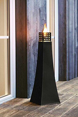 SIDCO ® Große Metall-Öllampe XXL Gartenfackel Gartenkerze Windlicht Laterne Gartenlicht