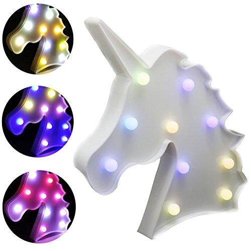 Aizesi Tischlampe Einhorn, Werbe-/Leuchtbuchstaben, Nachtlicht, Inneneinrichtung, Deko, batteriebetrieben