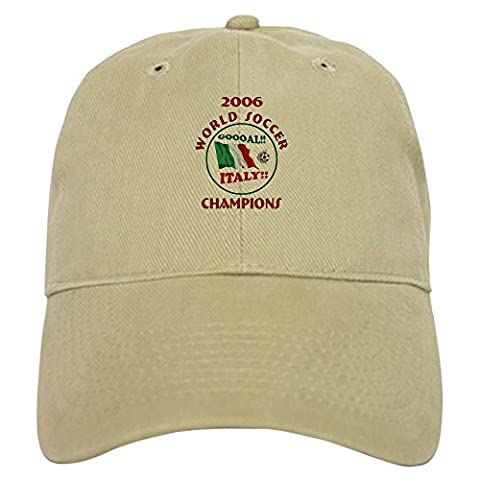 CafePress - GOAL ITALY! 2006 Champions Cap - Baseball Cap with Adjustable Closure, Unique Printed Baseball