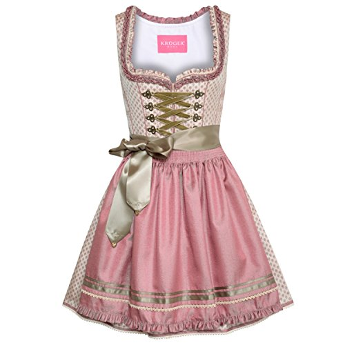 Krüger Dirndl Damen Trachten-Mode Mini Dirndl Adela in Beige traditionell
