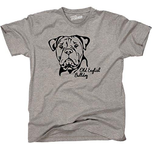 Siviwonder Unisex T-Shirt OLD ENGLISH BULLDOG Portrait Hund Hunde Wilsigns Sports Grey