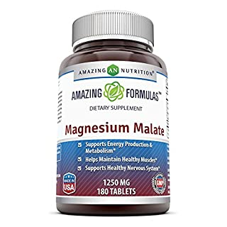 Amazing Formulas Magnesium Malate - 1250 mg per serving 180 Tablets