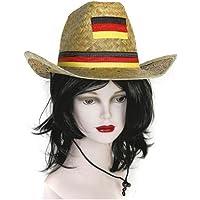 """Strohhut """"Deutschland"""" mit Kordel und Hutband"""