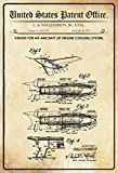 United States Patent Office - Design for an Aircraft jet Engine Cooling System - Entwurf für Flugzeug-Jet-Motorkühlsystem - Williamson 1950 - Design No 2.631.796 - metal sign blech garten deko schild
