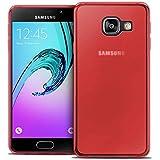 TBOC® Coque Gel TPU Rouge pour Samsung Galaxy A3 (2016) A310F en Silicone Souple Ultra Mince Etui Housse
