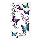 STOBOK 10 Blätter Temporäre Tattoos mit Schmetterlingsmuster Einweg Tattoo Aufkleber für Frauen Mädchen Party Favors