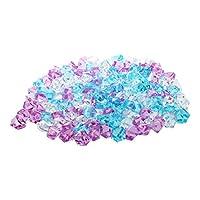 Shumo Plastic Aquarium Decoration Stone, 150 Pieces, Blue/Pink/White