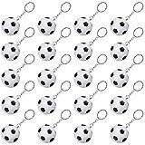 20 Piezas de Llavero de Soccer Blanco para Favores de Fiesta, Premio de Carnaval de Escuela, Relleno Regalo de Bosa de Fiesta (Llavero de Soccer, 20 Piezas)