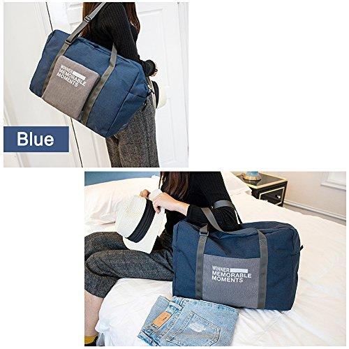 Reisen Falten Großes tragen Gepäck Tasche Tote Bagage Organizer Faltbares Reisegepäck Big Bags (Grau) Blau