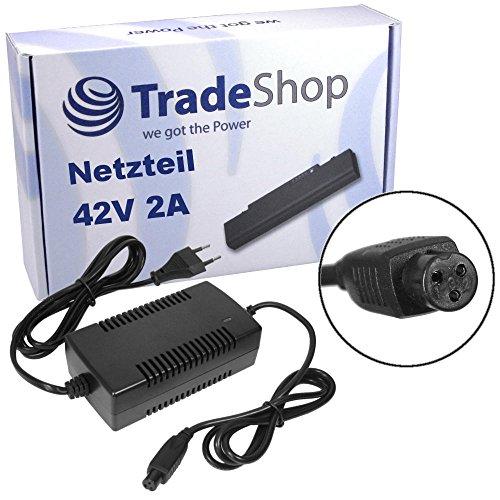 Preisvergleich Produktbild Trade-Shop Netzteil Ladegerät Ladekabel 42V 2A für 36V Akkus E-Bike Elektrofahrrad Pedelec Elektro Fahrrad Roller
