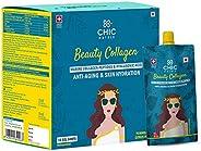 Chicnutrix Beauty Collagen   Japanese Collagen Peptides & Hyaluronic Acid for Skin Repair & Hydration 
