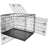 Bild: Nemaxx Transportbox Transportkäfig Drahtkäfig Klappbar Hundebox Hundekäfig Käfig Größe XL in Schwarz