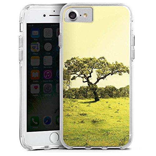 Apple iPhone 6 Plus Bumper Hülle Bumper Case Glitzer Hülle Baum Tree Landschaft Bumper Case transparent