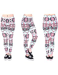 Print Leggings Gym Legings 30 Modelle Damen Print Tattoo Look Hipster Leggins von Alsino