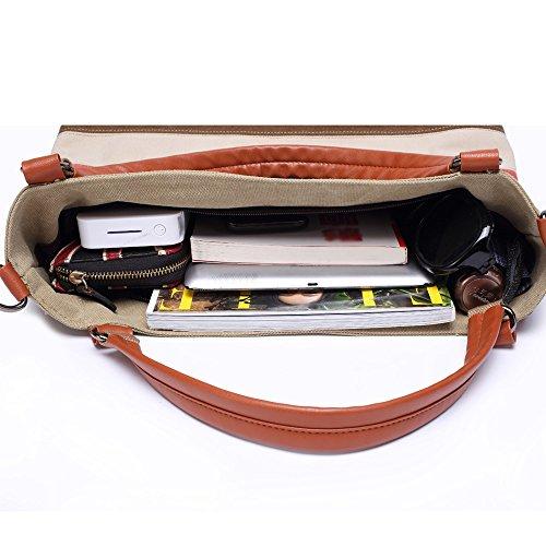 5 All Umhängetasche Streifen Damen Schultertasche Vintage Handtasche (Orange-Streifen) Orange-Streifen