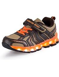AFFINEST Niño Zapatillas LED USB de Carga de 7 Colores de Luces del Zapato Glow Luminosos Light Up Flashing Sneakers Zapatos Deportivos de la Zapatillas de Deporte