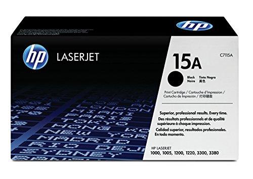 Laserjet 3380 Serie (HP 15A (C7115A) Schwarz Original Toner für HP Laserjet 1000, 1200, 1220, 3330)