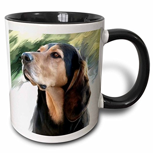 3dRose mug_4408_4 Black And Tan Coonhound Becher keramik mehrfarbig