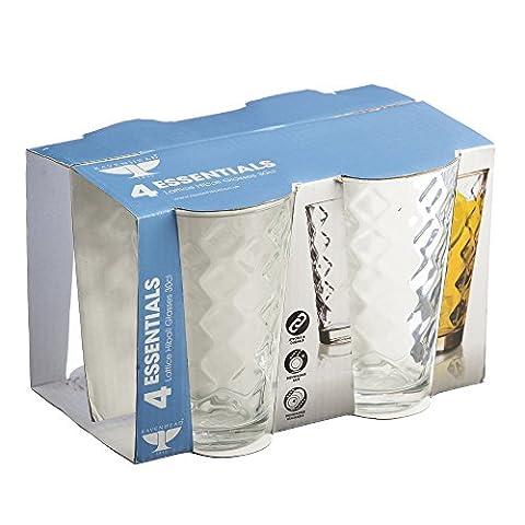 Ravenhead Essentials Lot de 4verres Motif treillis Transparent