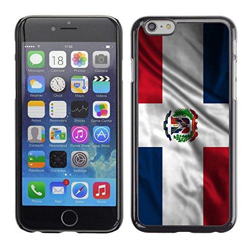 806a4a6d058 FJCases República Dominicana Dominico Bandera Ondeante Carcasa Funda Rigida  para Apple iPhone 6 Plus / iPhone