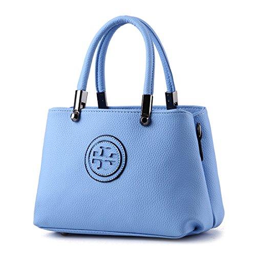 Ruiren Multifunktions Portable und Bequeme Geprägte Handtasche für Frauen, Messenger Schulter Tasche Handtasche Portable Schultertasche für Frauen Himmelblau