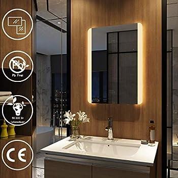 Badezimmerspiegel mit Beleuchtung LED Spiegel - 65x50 cm