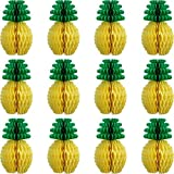 Cikuso 12 Pezzi Ananas a Nido d'Ape centrotavola di Carta velina Ananas 8...