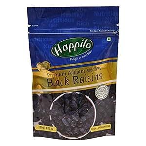 HappiloPremium Afghani Seedless Black Raisins, 250g