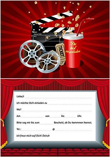 Preisvergleich Produktbild 10 Kino-Einladungen (Set 2): 10-er Set Kino-Einladungskarten für den nächsten Kindergeburtstag im Kino von EDITION COLIBRI © (10716)