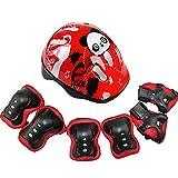 Kids protettiva Gear set, regolabile sport casco da bambino, carino ginocchio protettiva di sicurezza pastiglie per skateboard ciclismo skate attività all' aperto Taglia libera Red