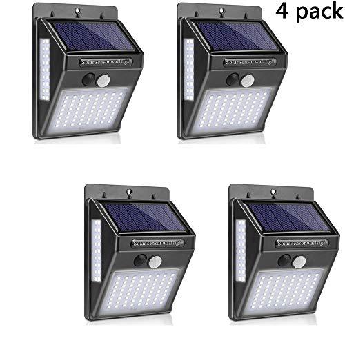 HEGUAN Solarleuchten Outdoor, 100 LED drahtlose wasserdichte Sicherheit Solarbewegungs-Sensor-Leuchten Garten dekorative Wandmontage Zaunpfosten Beleuchtung