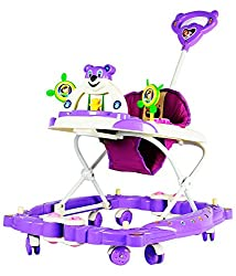 Panda Baby Walker Cum Rocker Height Adjustable - Purple