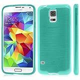 XAiOX Samsung Galaxy S5 brushed TPU Schutzhülle Bumper Case Back Cover gebürstet Hülle Silikon - licht grün