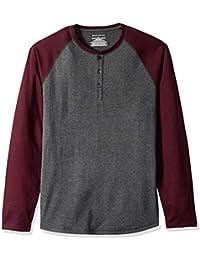 Amazon Essentials, Herren-Henley-Langarmshirt, normale Passform