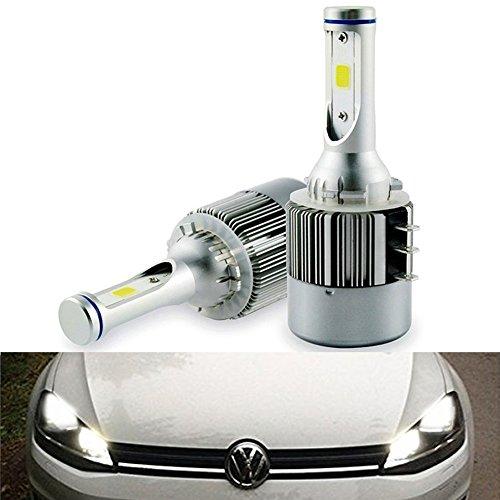 2 x H15 ricambio kit fari lampadina a LED senza errori Canbus DRL luce,Hi/Lo beam, 7600lm 6500 K DC 12 - 24 V bianco luce kit di conversione del faro lampada