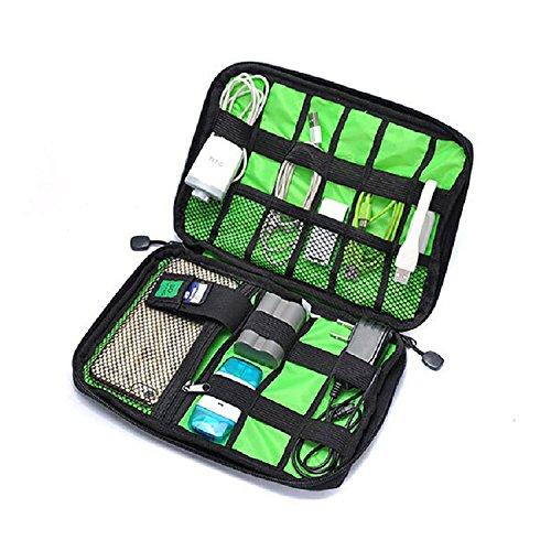 JUNGEN Tragbare Reisetasche Organisator Schwarz Tasche für elektronisches Zubehör wie Festplatte und Kabel Taschen