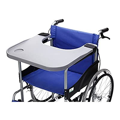 Wheelchair Tray Table with Cup Holder Medical Portable Lap Trays Accessories Child Chair Tray Desk for Eating Snack, Reading