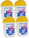 Gifrer Bicare Plus Double Action Bicarbonate de Soude + Bromélaïne - Lot de 4 x 60 g