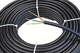Starkstromkabel 3x1,5 mm², 50m 3 adriges Erdkabel in schwarz, NYY-J, PVC Mantel, Stromkabel für...