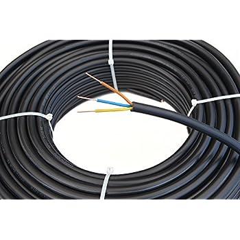 3183y 3 adriges kabel 15 a flexibel 1 5 mm x 50 m schwarz 1 rolle baumarkt. Black Bedroom Furniture Sets. Home Design Ideas