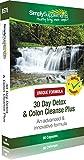 30 Day Detox Plus con Bucce di Psillio, Inulina, tarassaco e Aloe vera | Disintossica e Pulisce il Colon | 90 Capsule