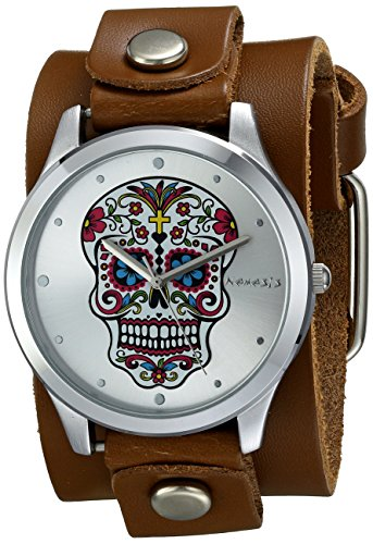 Nemesis Women's 925BGB-S Sugar Skull Series Analog Display Japanese Quartz Red Watch