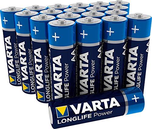 VARTA Longlife Power AA Mignon LR6 Batterie, Alkaline Batterie, ideal für Spielzeug Taschenlampe Controller und andere batteriebetriebene Geräte, 20er Pack -